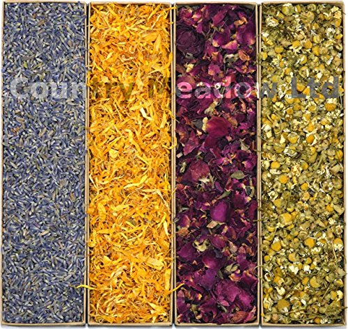 Flower Petals Lavender, Calendula, Rose, and Chamomile, 2 Cups