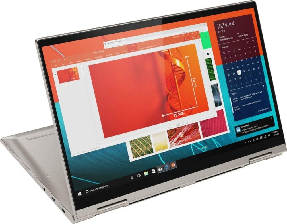 "2020 New Lenovo Yoga C740 2-in-1 14"" Touch-Screen FHD Laptop - Intel Core i5-10210U (4C / 8T, 1.6 / 4.2GHz, 6MB) - 8GB DDR4 Memory - 512GB Solid State Drive -Finger Print - 3.1 Lbs - Win 10 - Mica"