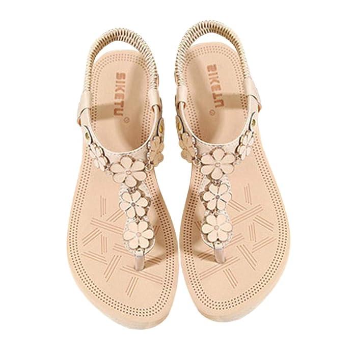 Amazon.com | OrchidAmor New Women Clip Toe Comfortable Flip Flop Elastic Band Creepers Sandals Beach Sandal | Sandals