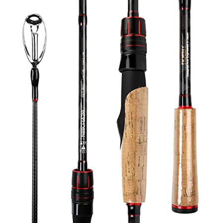 NOEBY NBRO-LE II Fishing Rod Designed Specifically for Bass Fishing 2 Piece Lure Fishing Rod Fast Casting Spinning Rods ML M MH-Designed and Engineered in Japan