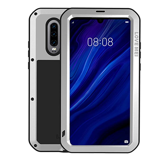 finest selection f7456 4e91f Simicoo Huawei P20 Pro Aluminum Alloy Metal Bumper Silicone Full body  Hybrid Case Built-in Gorilla glass Military Shockproof Heavy Duty Armor  Defender ...