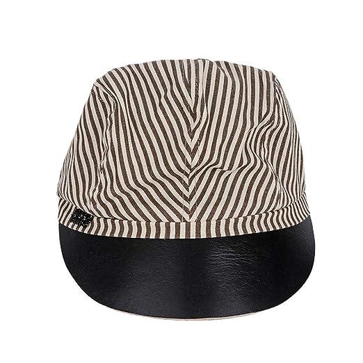 Zyangg-Home Gorra de béisbol con el Sombrero del Modelo Rayado ...