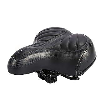 Sillín de bicicleta con asiento de bicicleta - Cojín ancho ...