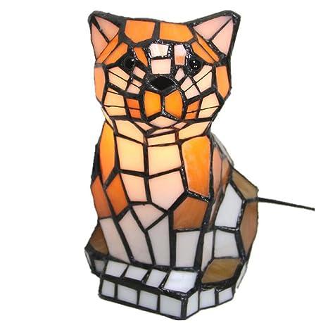 Amazon.com: Lámpara de mesa estilo Tiffany, creativa ...