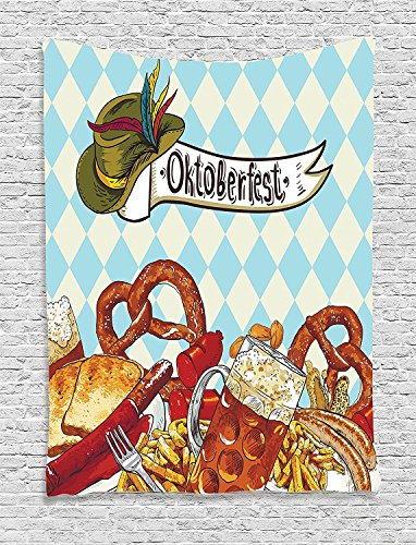 [Supersoft Fleece Throw Blanket Festivalations Collection Bread Pretzel Carnival Partying Germany Costume Cheerful Festival Illustration Brown] (Katy Perry Haloween Costumes)
