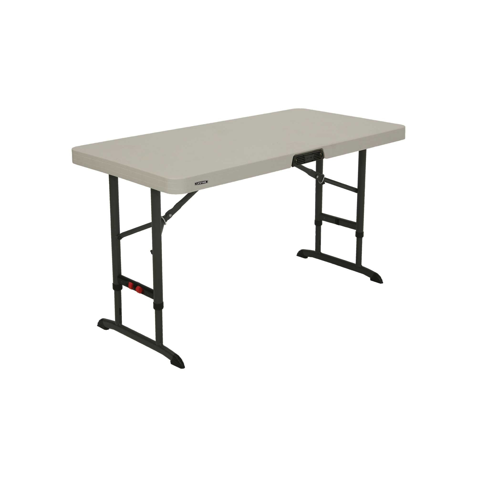 Lifetime Products 80387 4-Foot Commercial Adjustable Folding Table, Almond by Lifetime Products