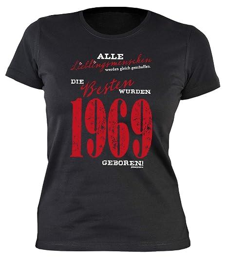 be140f6c42a3fc Sexy Damen T-Shirt exklusiv zum 50. Geburtstag 50 Geburtstag Frau Schwester  50 Jahre Lieblingsmenschen - die Besten wurden 1969 geboren  Amazon.de  ...