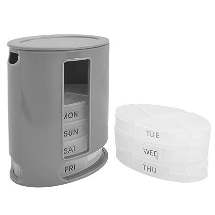 Organizador de pastillas, 7 días, semanal, caja de medicina diaria, dispensador de