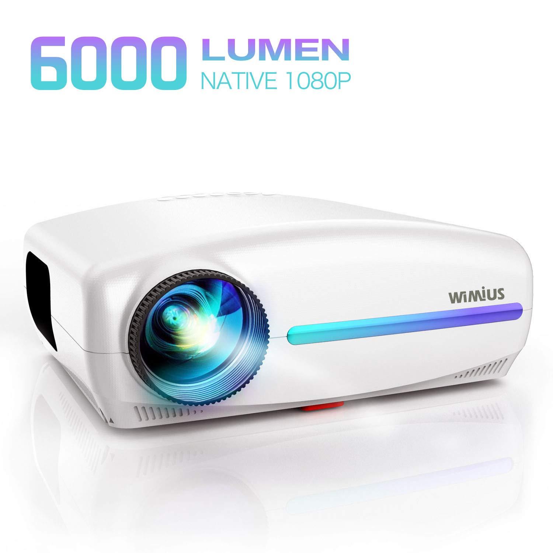 Proyector, WiMiUS 6000 Lúmenes Proyector Full HD 1920x1080P ...