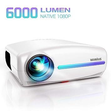 WiMiUS 5500 lúmenes LED Proyector Nativa 1080P Soporte 4K 1920 x ...