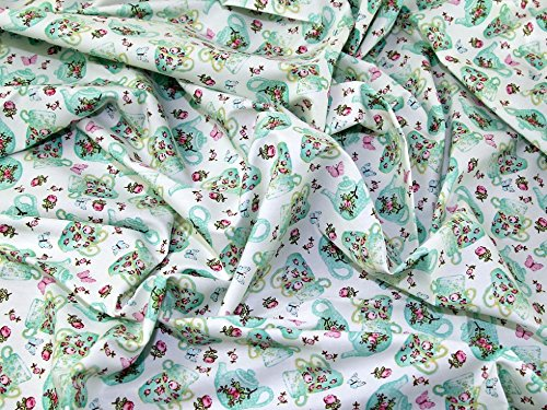 rint Cotton Poplin Fabric Ivory - per metre ()