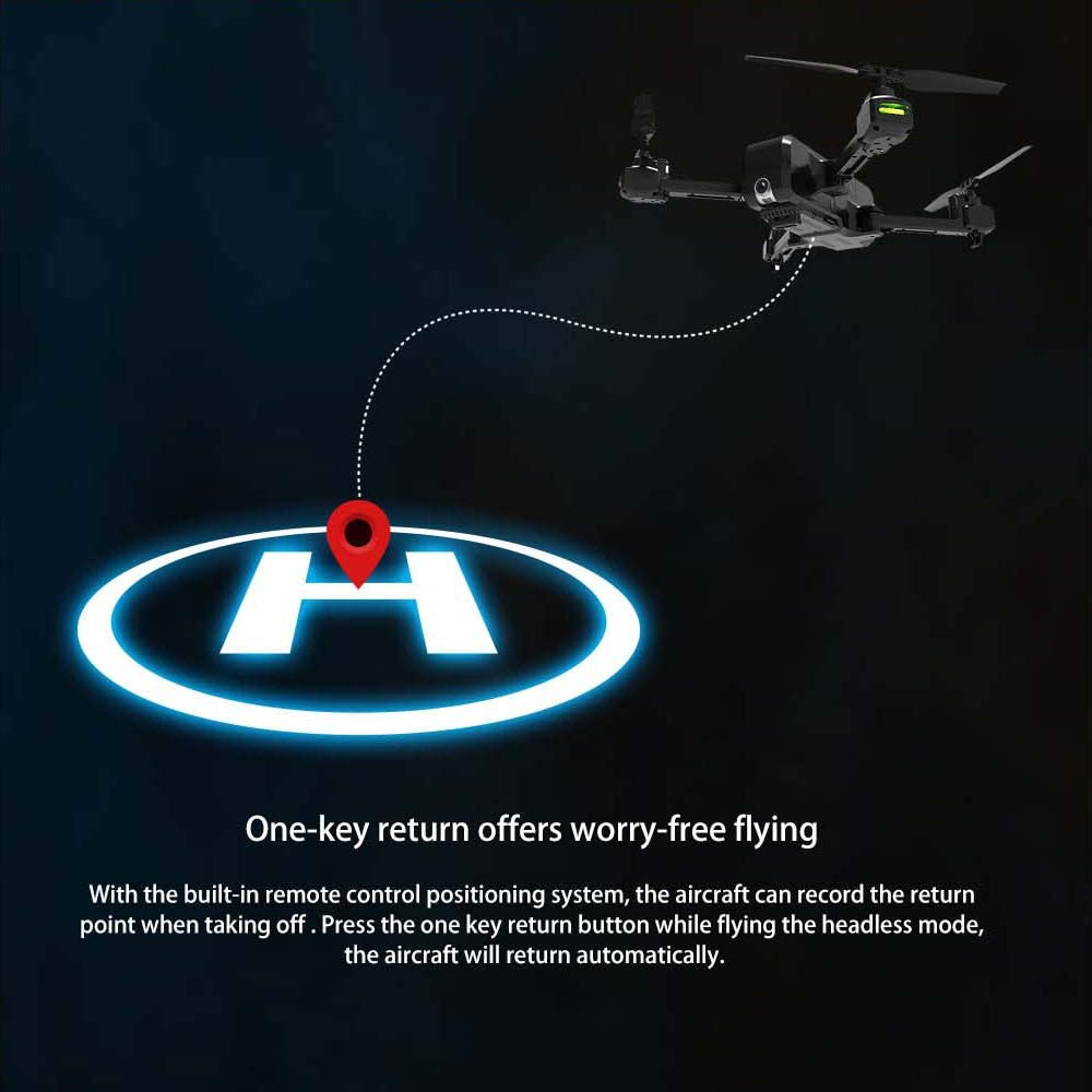 /… 3 Batteries HScopter 5G WiFi Drone with Camera 2K FPV Live Video Drone for Kids Adults,RC Drone Quadcopter with GPS Return to Home//One Key Take Off//Land//Follow Me//Low Voltage Warning/&Protection