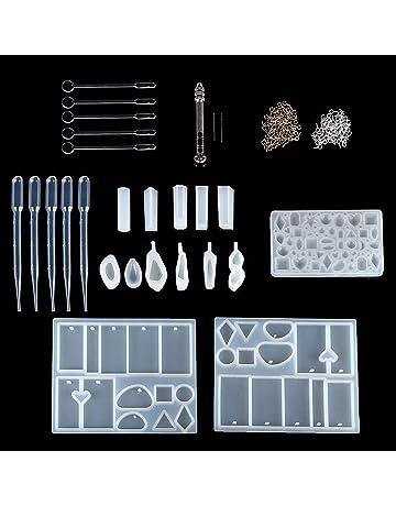 Festnight Kit de moldes de fundición de resina hechos a mano de silicona que hace la