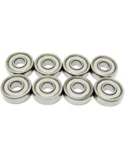 Zoty 608ZZ Inline Skate Bearing Skateboard Replacement Bearings ABEC-7 Grade Bearings for Scooter Pack of 8 pcs