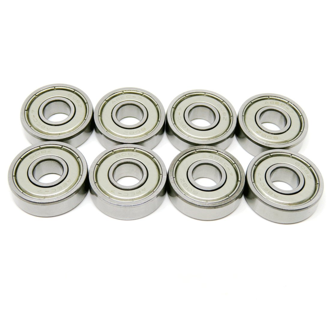 Zoty 608ZZ Inline Skate Bearing Skateboard Replacement Bearings ABEC-7 Grade Bearings for Scooter Pack of 8 pcs 608ZZ ABEC-7