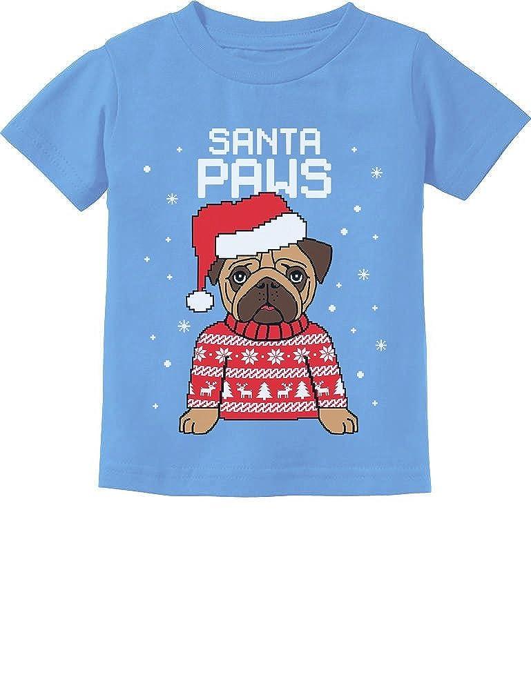 TeeStars - Santa Paws Pug Ugly Christmas Sweater Dog Toddler/Infant Kids T-Shirt GtPtP30gm5