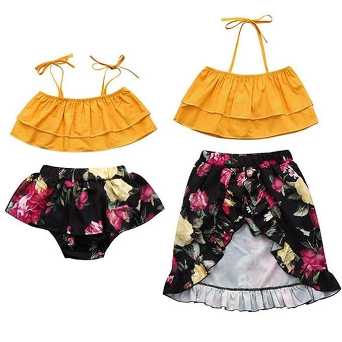 Amazon.com: Puseky Baby Big Little Sister - Vestido con ...