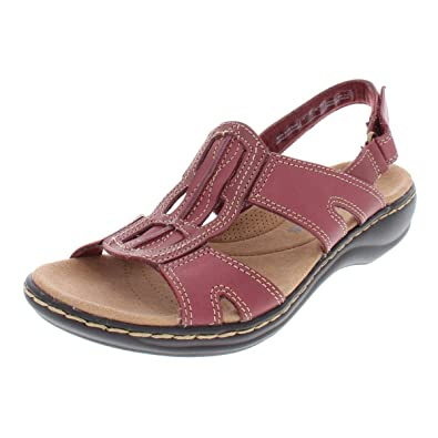 Image Unavailable. Image not available for. Color  CLARKS Womens Leisa Skip  Leather Strappy Sport Sandals ... b3142aa83b