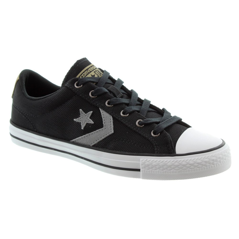 Star Player Ox Lace Shoes In Black Grey