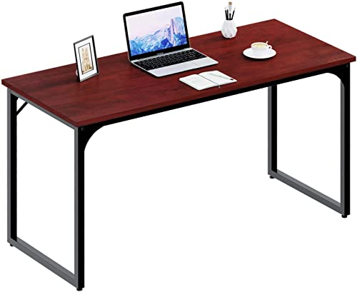 YITAHOME Computer Desk 55″ Modern Sturdy Office Desk PC Laptop Desk Study Writing Table