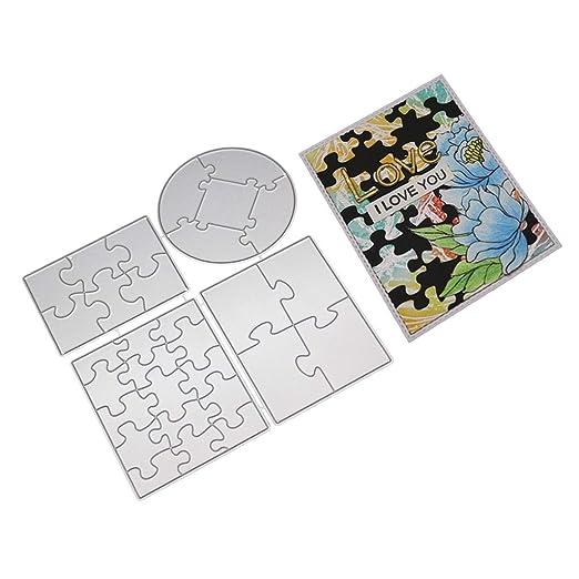 DAchun11 Puzzle Metal Troquel Plantilla para DIY ...