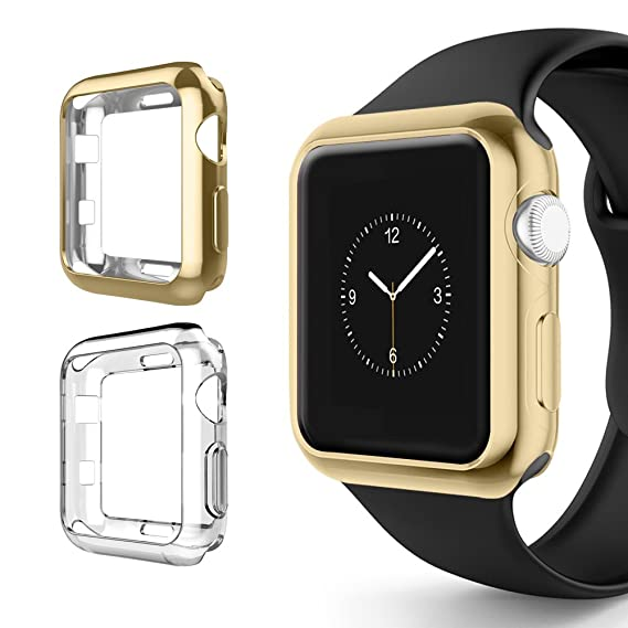 low priced fa50f e975d for Apple Watch Series 3 Case 38mm, Alritz Soft Slim TPU Protective Case  Flexible Anti-Scratch Bumper Cover for Apple Watch Series 1 Series 2 Series  3 ...