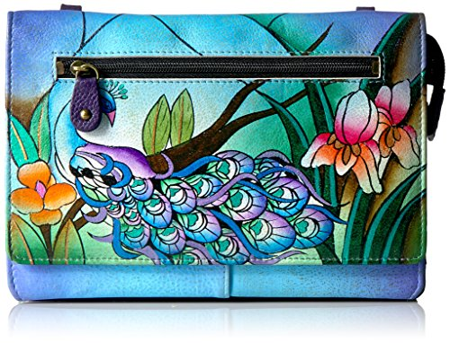 Anna by Anuschka Hand Painted Leather Organizer Wallet On String | Midnight -