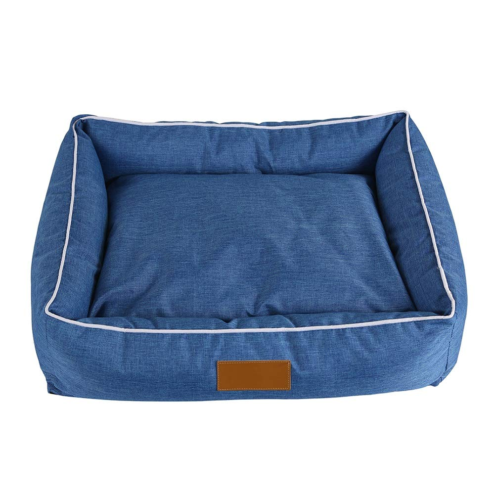 M(554515cm) Pet Bed Moisture Proof Sofa Breathable Removeable Cover Universal Year-Round, Cat Dog Denim bluee (Size   M(55  45  15cm))