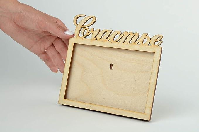 Portaretrato para fotos hecho a mano decoracion de interior elemento decorativo: Amazon.es: Hogar