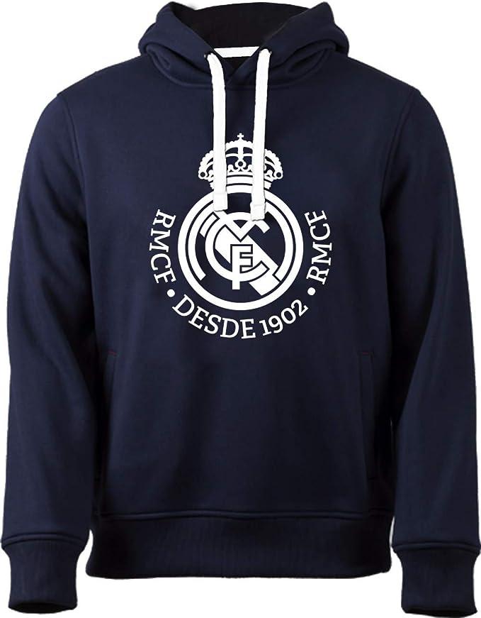 Real Madrid Sudadera Cap-Hoodie No 4 Marino-Blanco, Turquesa, 14 ...