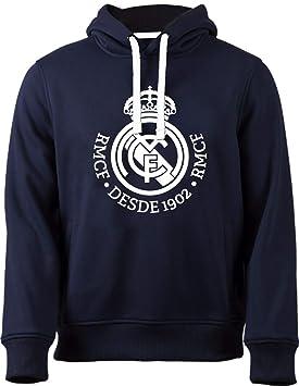 Real Madrid Sudadera Cap-Hoodie No 4 Marino-Blanco, Turquesa, 14 Anni