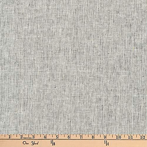 Robert Kaufman Kaufman Essex Yarn Dyed Linen Blend Homespun Charcoal Fabric by The Yard,
