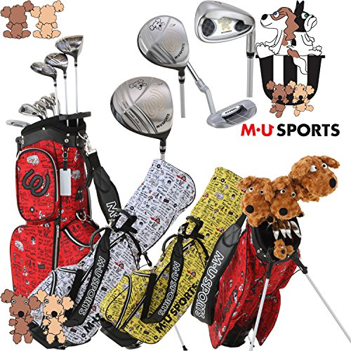 MUスポーツ 703V4900 レディース ゴルフ ハーフセット クラブ8本組 スタンドキャディバック付き 【ヘッドカバー4点付】 レッド
