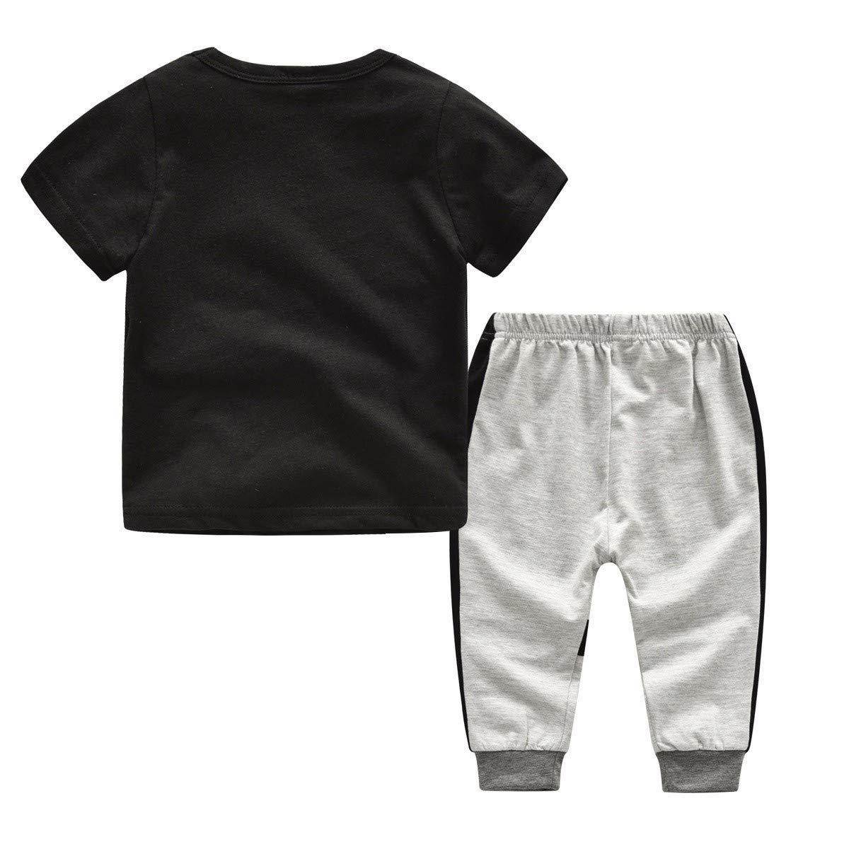 Camouflage Hose Weiche Outfits Set WUSIKY Fr/ühling SummerToddler Kleidung Kinder Jungen M/ädchen Brief Drucken Baumwolle T-Shirt Tops