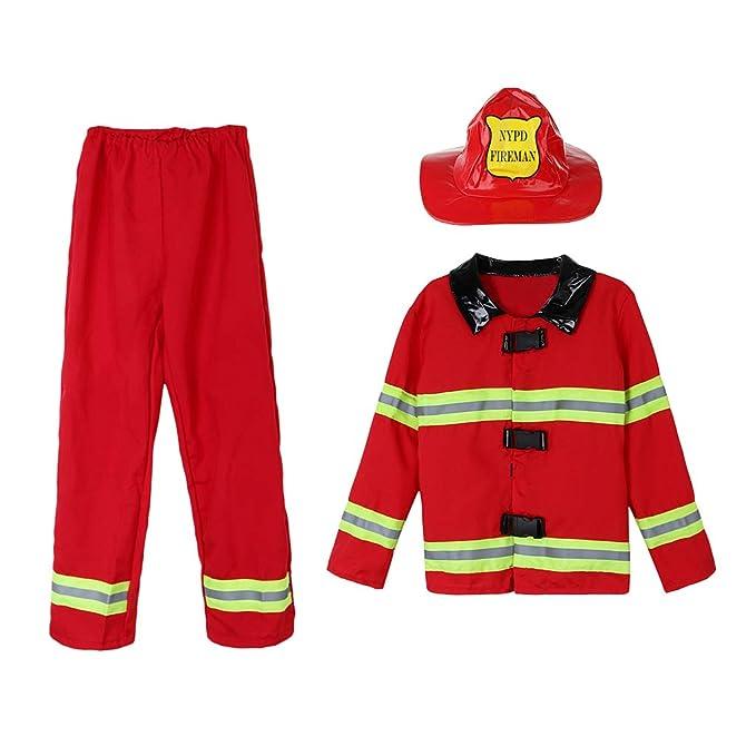 3 Unid Set Disfraz de Bombero Fiesta Niños Trajes de ...