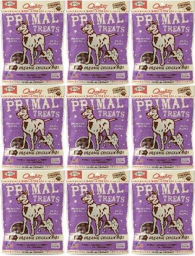 Primal Treats Jerky Organic Chicken Nibs 36oz (9 x 4oz) by Primal