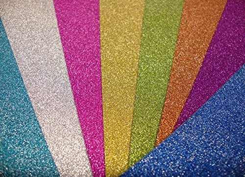 Sample Sheet Low Shed Cardstock Arts /& Crafts 250gsm Silver Glitter Card A4