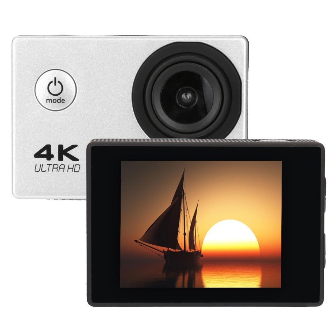 Everyone Love Camera, Waterproof 4K Wifi HD 1080P Ultra Sports Action Camera DVR Cam Camcorder (Silver)