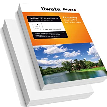 Amazon.com: liwute papel fotográfico 6