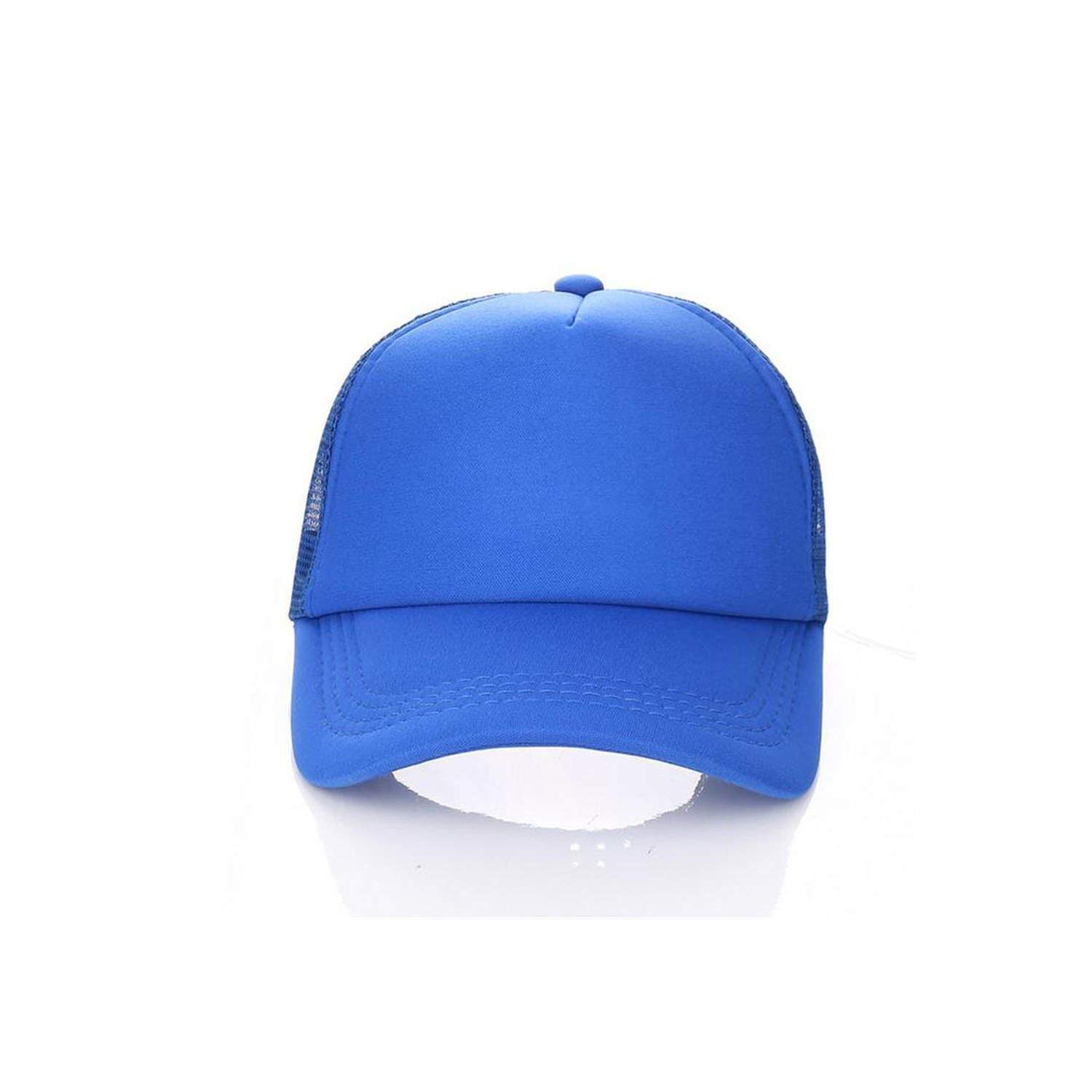 54-58cm Custom 100/% Polyester Baseball Cap Blank Mesh Adjustable Hat Adult Children Kids,Blue,Adult