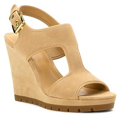 4ede57f45a7 Michael Kors Gillian Womens Bone Nude Wedge Sandals