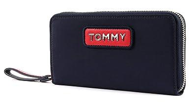 Tommy Hilfiger Damen Varsity Nylon Lrg Za Wallet Geldbörse Blau