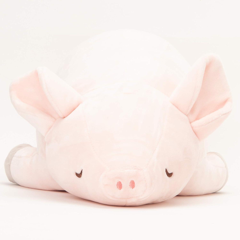 LIV/HEART/CORPORATION Comfortable Long Body Pillow for Pig Lovers Hug Pillow 21.6inch Pig Body Pillow