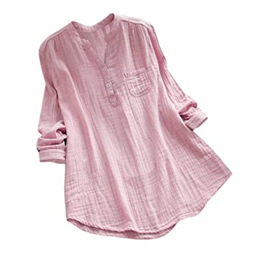 Amazon.com : Clearance!HOSOME Women Top Women Stand Collar Long Sleeve Casual Loose Tunic Tops T Shirt Blouse : Grocery & Gourmet Food