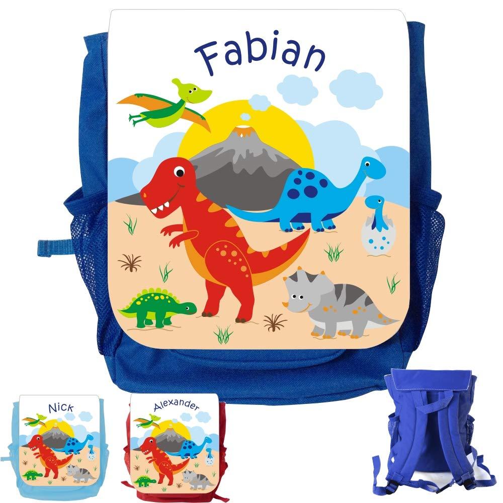 MissRompy Dino (875) Rucksack mit Name Kinderrucksack Kita Kindergartenrucksack Kindertasche