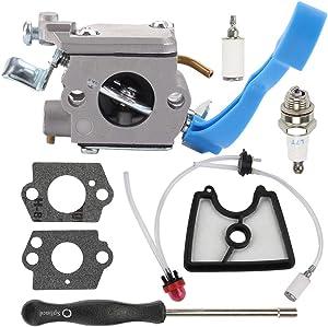 Harbot 125B Carburetor for Husqvarna 590460102 545081811 125BX 125BVX 28CC Leaf Blower Zama C1Q-W37 Carb 545112101 581798001 Fuel Line Kit