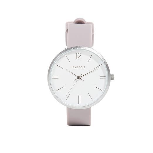 Parfois - Reloj Silver Tray - Mujeres - Tallas Única - Lila: Amazon.es: Relojes