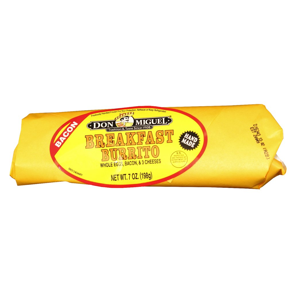 Don Miguel, Individually Wrapped Bacon/Cheese/Egg Burrito 7 oz., (12 count)