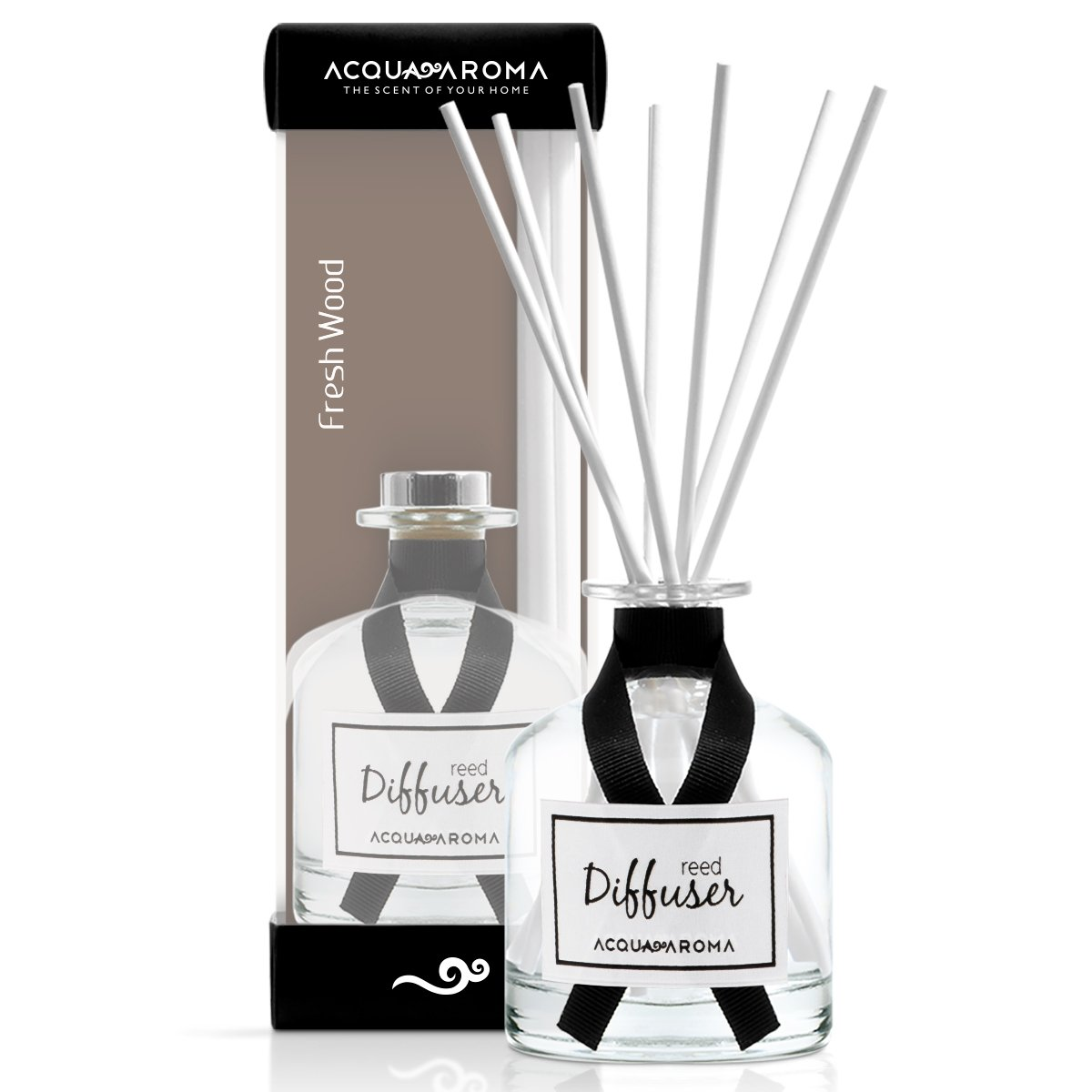 Acqua Aroma Everyday Collection Fresh Wood Reed Diffuser 8.1 FL OZ (240ml)