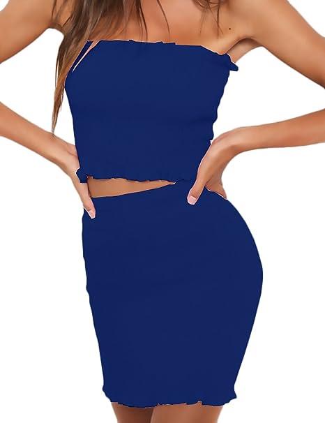 Mujer Faldas Elegante Verano Bandeau Sin Dulce Lindo Chic ...